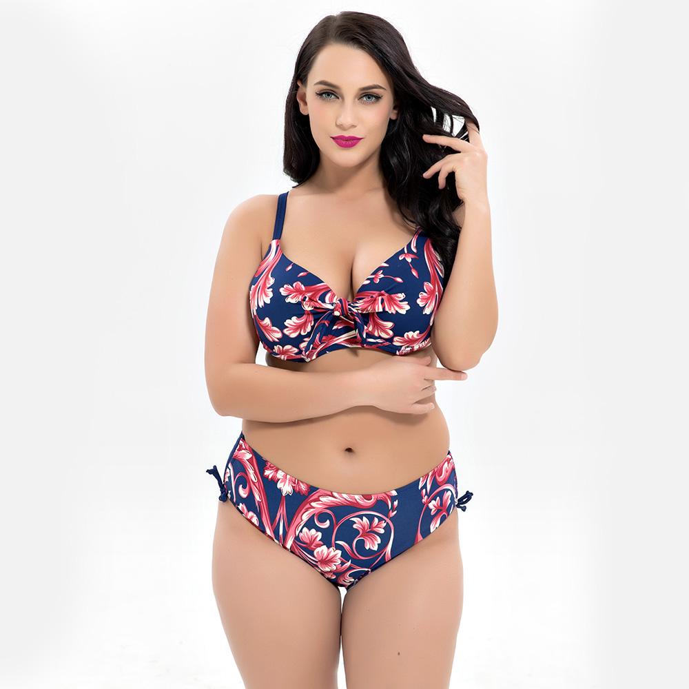 61115c4b7b Plus Size Big Cup Women Bikini Super Size Brazilian Girls Style Swimwear