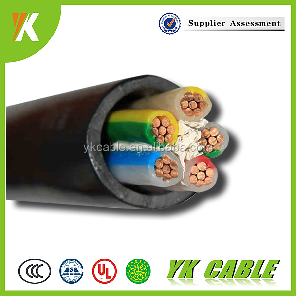 Multiconductor pvc insulation 3 phase 4 core 10mm2 5x6mm2 electrical cable