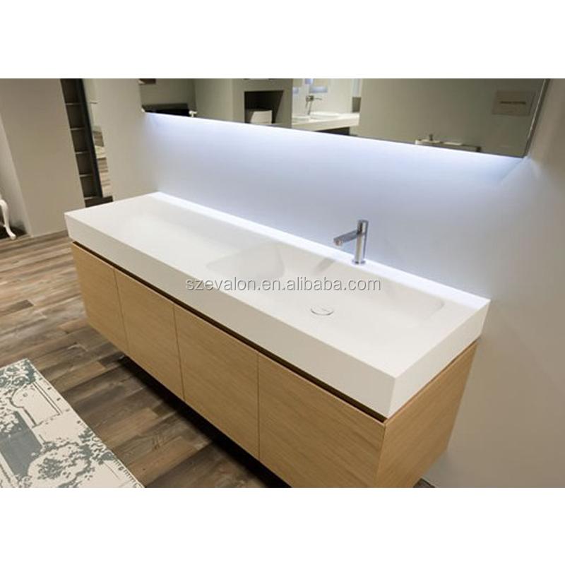 Acrylic One Piece Bathroom Sink And