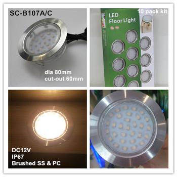 80mm 2 5w 12 Volt Ip67 Waterproof Outdoor Deck Lightings Fixtures Sc B107a Led Lighting
