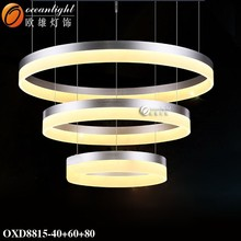 EXCLUSIVE White LED Modern Acrylic Metal Chandelier Ceiling Pendant Lights Lamp OXD8815