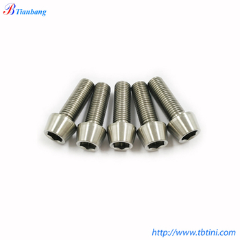 Din912 Gr5 Ti4al4v M3 M4 M5 M6 M8 Titanium Bolts Taper Head Allen Key  Screws - Buy Titanium Taper Head Allen Key Screws Product on Alibaba com
