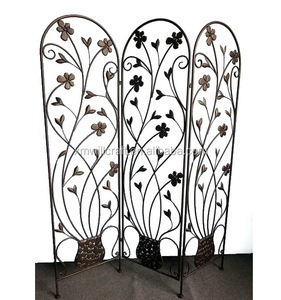 flower and leaves chinese antique Metal Room Divider