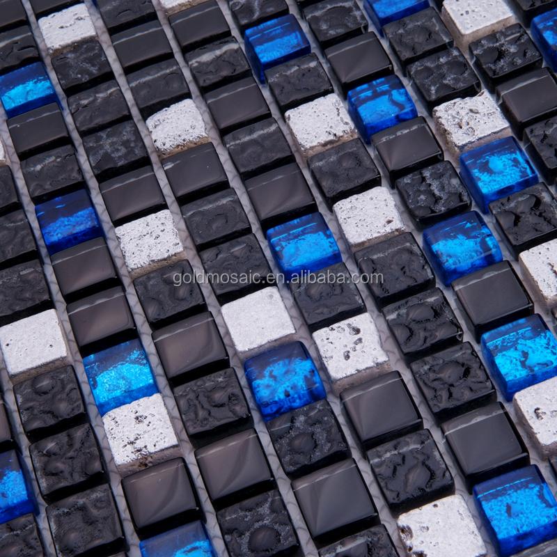 Bule jtc-1324 trasparente di cristallo misto mosaico di marmo nero ...