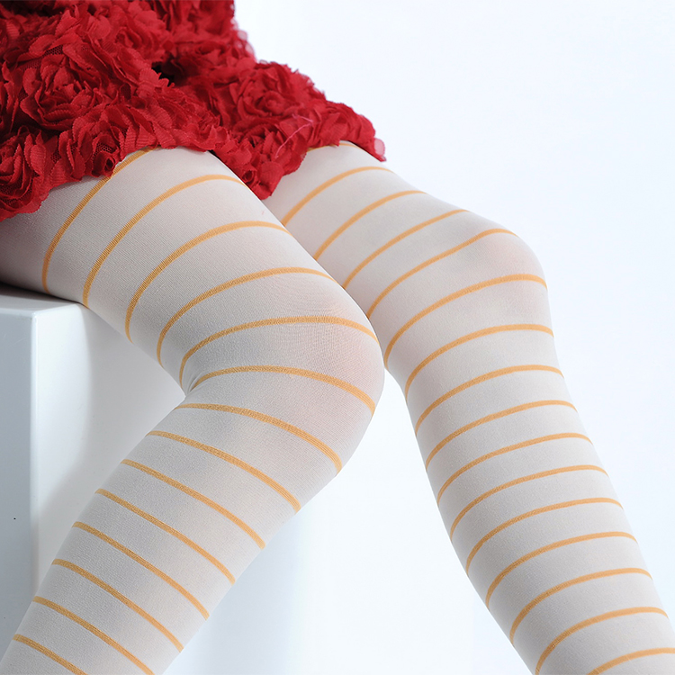 cheap wholesale children stripped nylon pantyhose tube,girl in white pantyhose breathable yoga pants