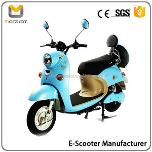 2016 Morakot Big Power Vintage Vespa Style Long Range Factory Price 48V500W Electric Scooter/Motorcycle with Battery BP14