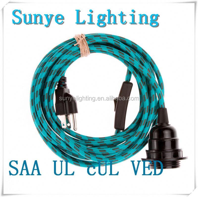 Trenzado trenzado textil cable el ctrico cable de la - Cable electrico barato ...