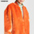 2018 New Fashion Design Thicken Fleece Faux Fur Warm Coat Women Orange Sheepskin Bomber Jacket