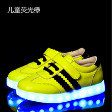 Adorable Kids Led light sport shoes blinking sneakers running shoes
