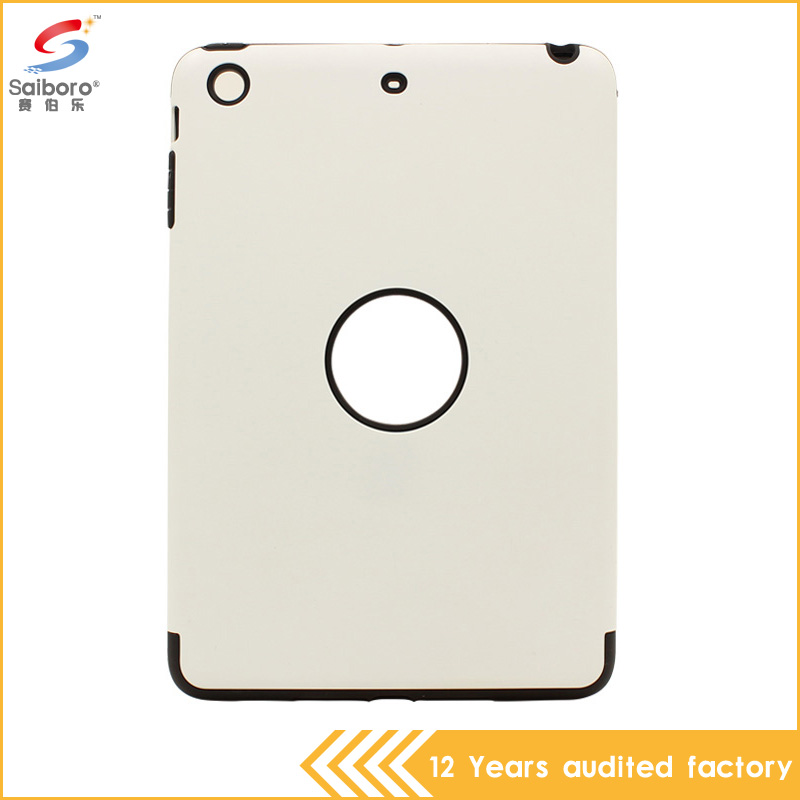 Discount factory promotions high quality tpu pc soft white color case for ipad mini 2