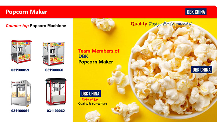 DBK Automatic Popcorn Making Machine / Commercial Popcorn Machine / Popular Corn Machine