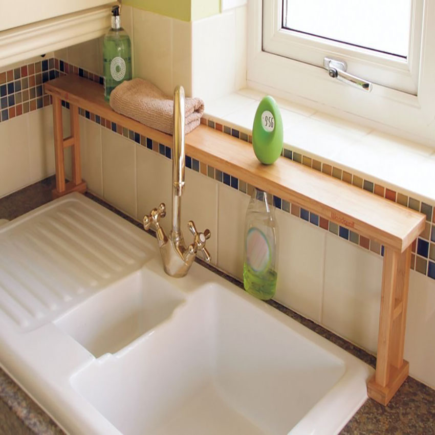 Kitchen Over Sink Shelf Rack Bathroom