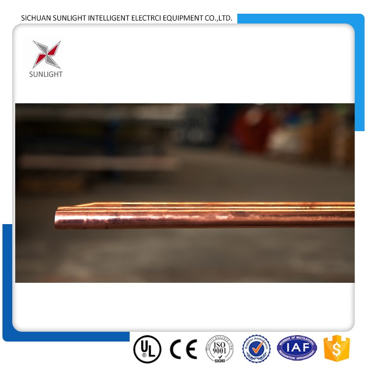 Factory supplier 99.9% pure copper copper clad steel ground rod