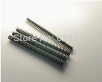2.54mm pitch connector double row male pin header straight 2x40pin