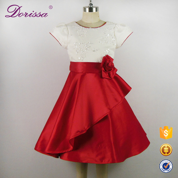7e7528dddc6f Baby Girl Dress In Red Color Dress For 7th Birthday Girl Hand Made ...