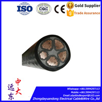 Electrical Cable Wire 10mm Copper Core XLPE Insulated PVC sheathed SWA 4x10mm2 power cable Price $4.05/meter