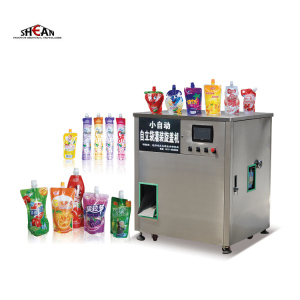 Automatic Spout Pouch Liquid Water Capping Machine Mango Juice Filling Machine