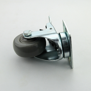 Wholesale 3 inch pvc gray plate universal rigid industrial caster with brake