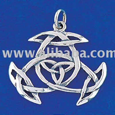 Sterling Silver Celtic Triple Trinity Knot Pendant