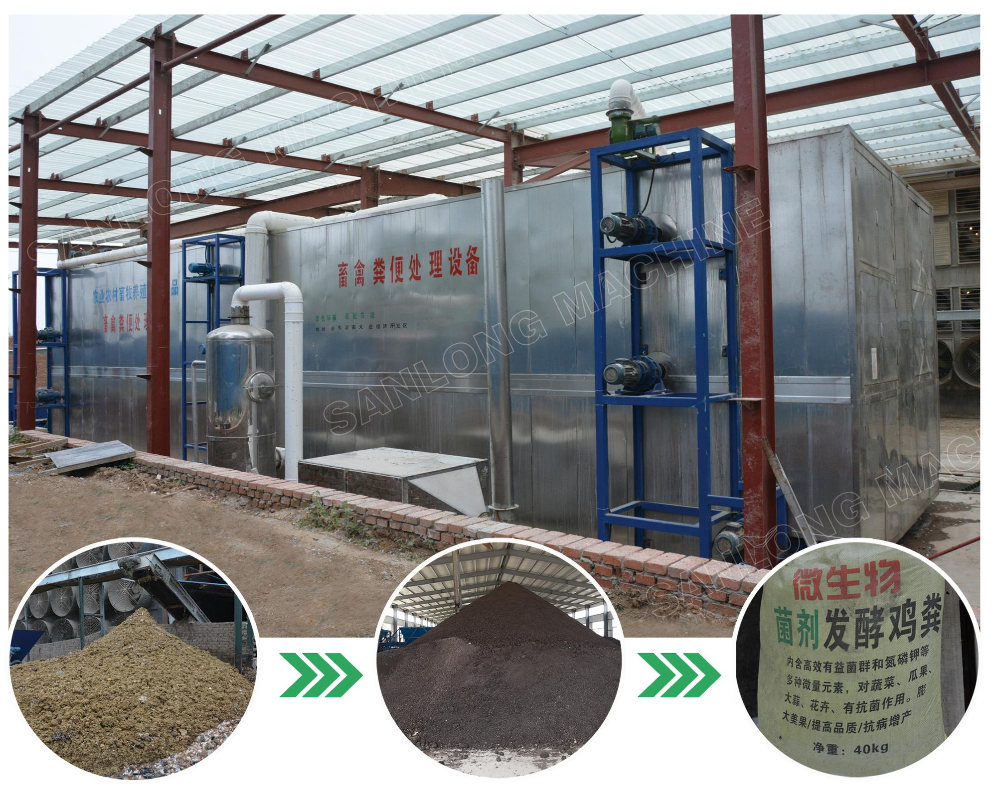 chicken manure organic fertilizer machine for make organic fertilizer