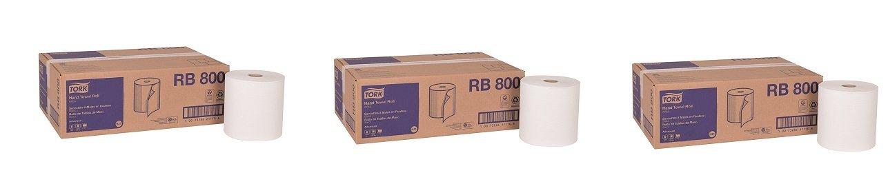 "12-Pack Tork Universal Hardwound Paper Roll Towel,1-Ply 7.87/"" Width x 350/' Leng"