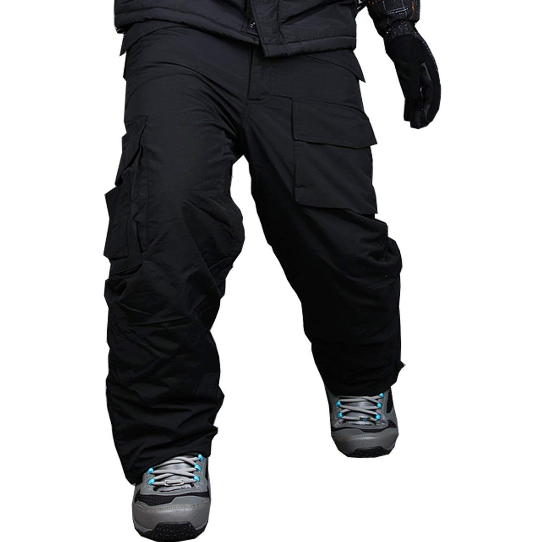 Get Quotations · myglory77mall Mens Winter Warm Waterproof Hip Ski  Snowboard Military Camo Pants Black US L 5d5af544951