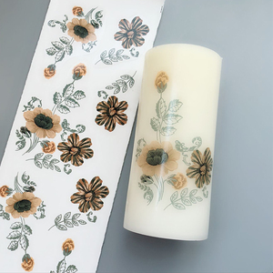 Candle water transfer decal paper by laser & inkjet printing