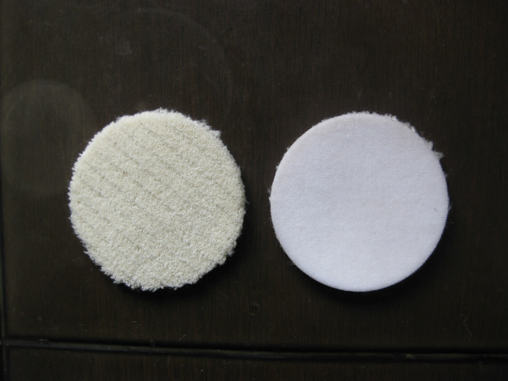 Pure wool auto polishing pads with velcrohook and loop