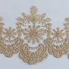 top quality gold metallic lace trim for garment decoration