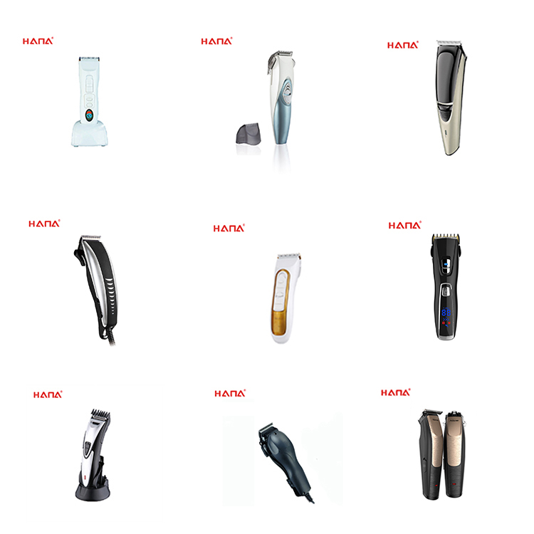 High quality long life hair clipper ceramic blade titanium layer blade hair trimmer professional rechargeable hair clipper