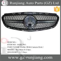 For 2014-2015 Mercedess Ben-zs E-Class ABS Diamond Car Grill With & Without Camera Hole