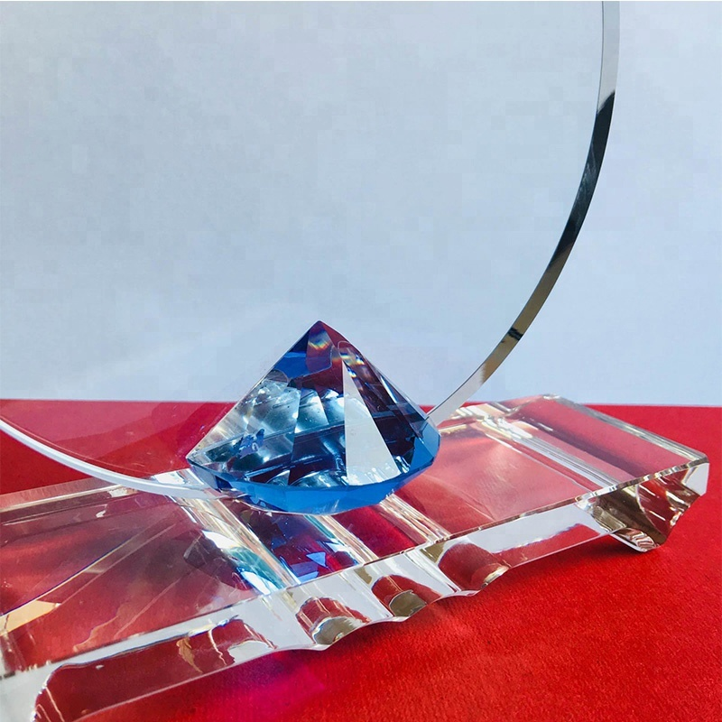 Customize Uv Colour Printing Logo Blank Crystal Cubes Awards For Engraving,sublimation Crystal Blank Trophy