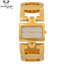 Latest D shaped bangle band ladies watch with square dial