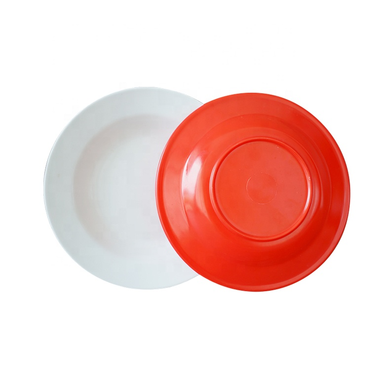 8 inch restaurant plastic melamine round <strong>plate</strong> wholesale dinner <strong>plates</strong>