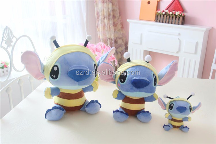 mini plush figure animal toy/big ears stuffed soft toys/plush toy bee stuffed animal toy