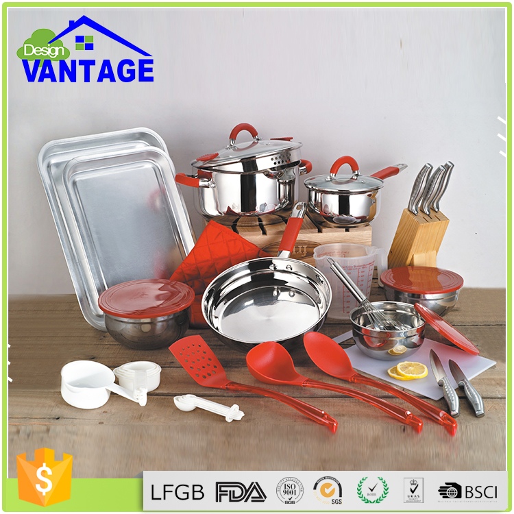 kitchen accessories wholesale 36 pcs kitchen accessories stainless steel cooking pan set 2160