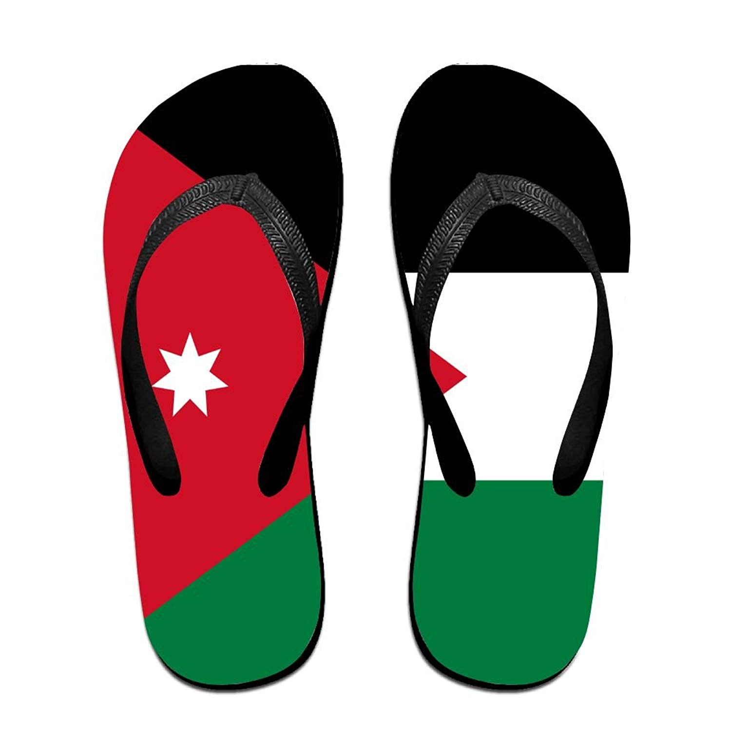 d34561bc8ed2 Get Quotations · Flag Of Jordan Comfortable Flip Flops For Children Adults  Men And Women Beach Sandals Pool Party