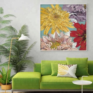 Hot sale impressionist flower painting art indoor wall decor picture