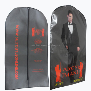 f57299941d98 Hot Sale Garment Bag Reusable Polyester Front Nonwoven Back Breathable Suit  Cover Bag With Zipper/laminated Nonwoven Garment Bag - Buy Laminated ...