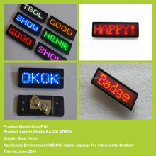 high quality display p10 outdoor red color led message sign solar power