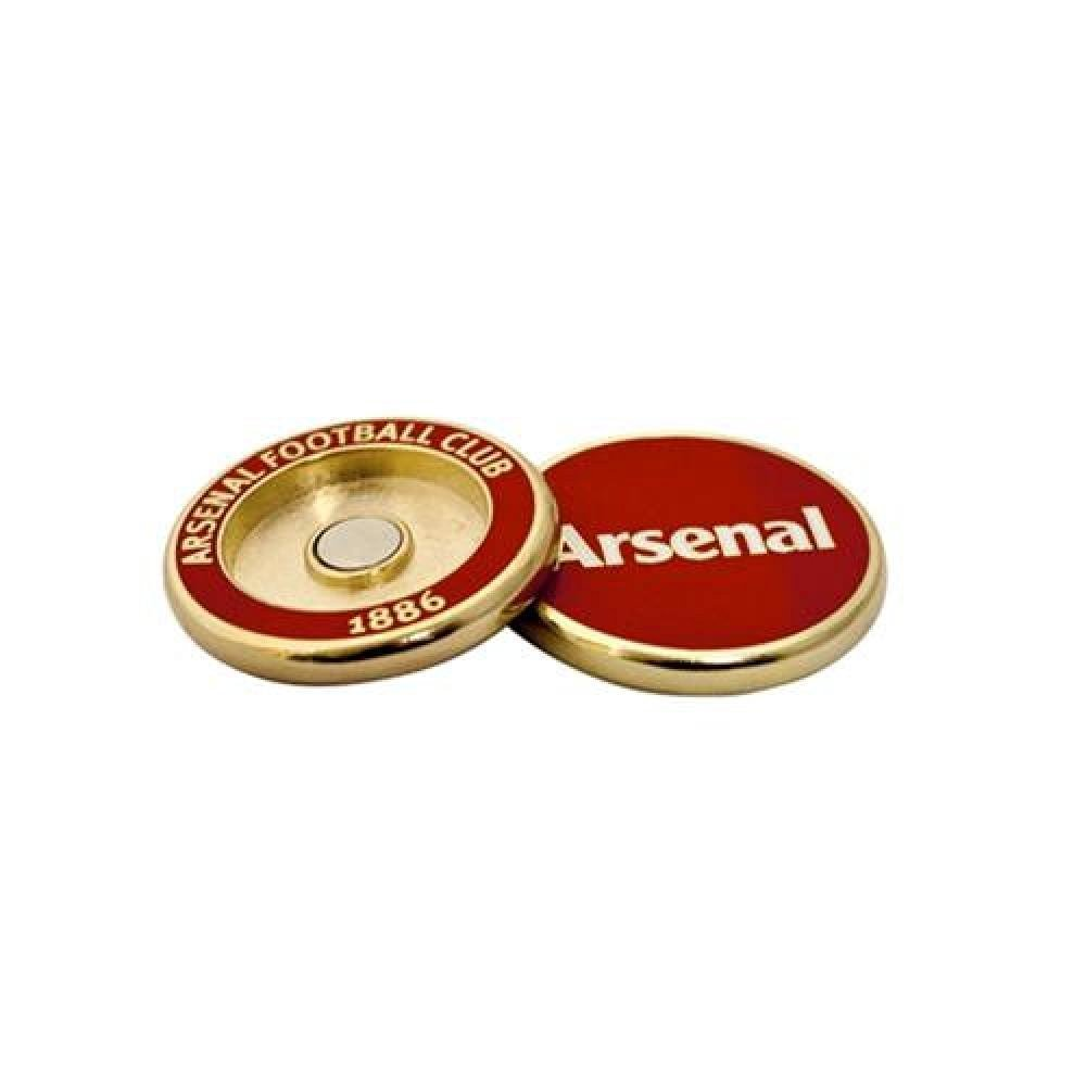 Football Gifts - Arsenal Fc Gift Ideas - Official Arsenal Fc Golf Ball Marker Duo - A Great Present For Football Fans