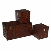 Classic antique style high quality of wooden trunk
