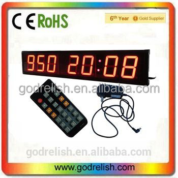 "Godrelish 4"" 7 digits day counter LED wall mounted Clock countdown timer 12/24H time"