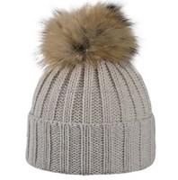 2017 Girls Winter Knitted Wool Hats With Fur Poms