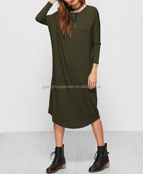 Vert Olive Dolman Manches Spandex T Shirt Robe Buy Robe Verte Spandex A Manches Longues Robe Spandex A Manches Longues Robe A Manches Longues Product On Alibaba Com