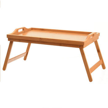 Home It Bed Tray Table With Folding Legs And Breakfast Bamboo