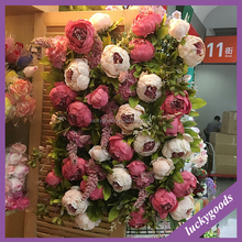 Artificial peony plastic wall flower decoration for stage backdrop