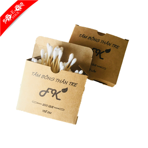 Disposable new designed japan cotton buds in paper box