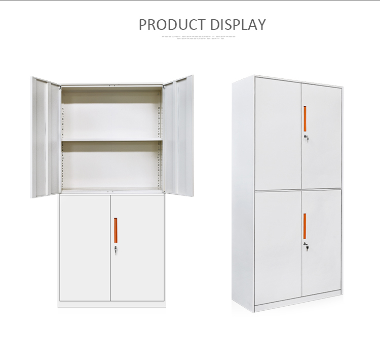 Cheap price two section file storage <strong>cabinet</strong> with 4 doors steel material office furniture <strong>cabinet</strong>