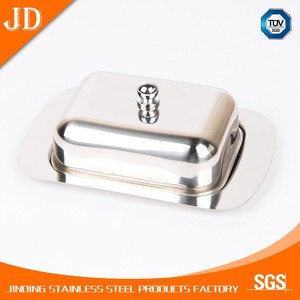 silver High quality metal Butter Dish